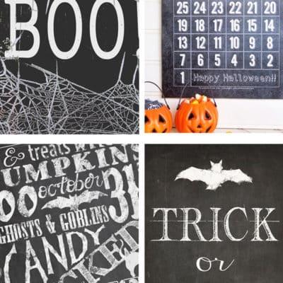 Chalkboard Halloween Printables