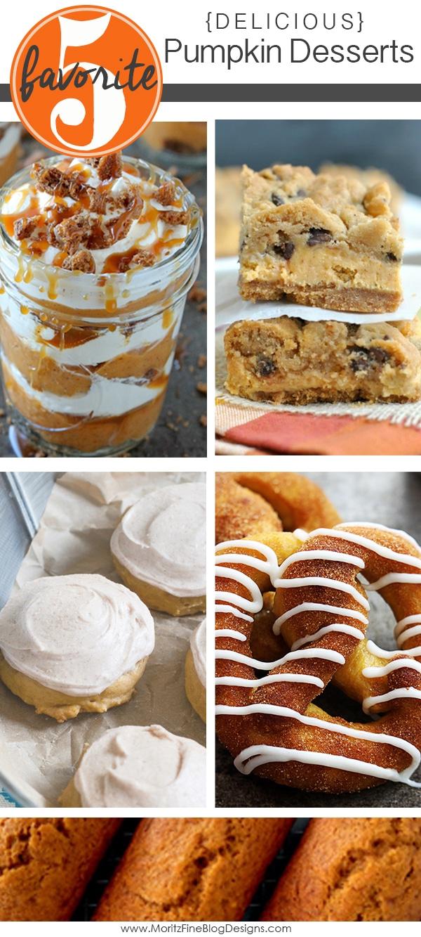 Pumpkin Desserts | Friday Favorite 5