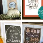 Quickly and easily decoration your home for Thanksgiving with these Free Home Decor Thanksgiving Printables. They are the perfect addition to your mantle, buffet table or even your kitchen. #thanksgivingdecor