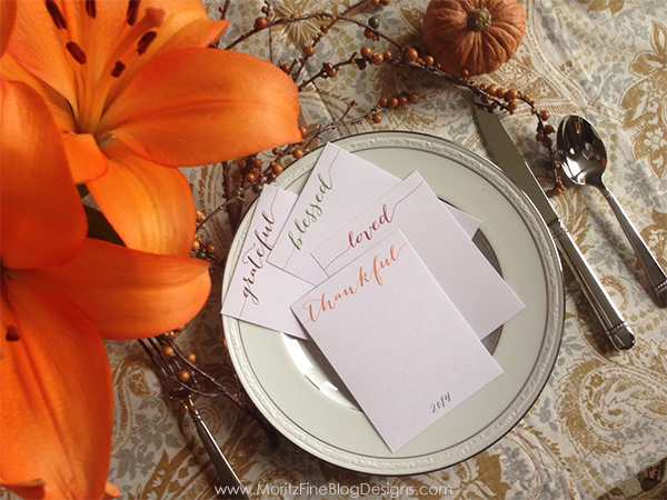This Thanksgiving use these printable Gratitude Cards for your guests to fill out and keep as a memory.