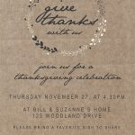 Use this free customizable Printable Thanksgiving Invitation to invite your friends and family to Thanksgiving dinner. #thanksgivinginvitations