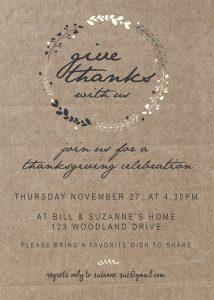 image regarding Printable Thanksgiving Invitations identified as Printable Thanksgiving Invitation Moritz High-quality Programs