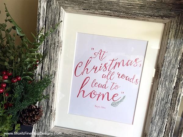 Christmas Wall Decor Free Printable