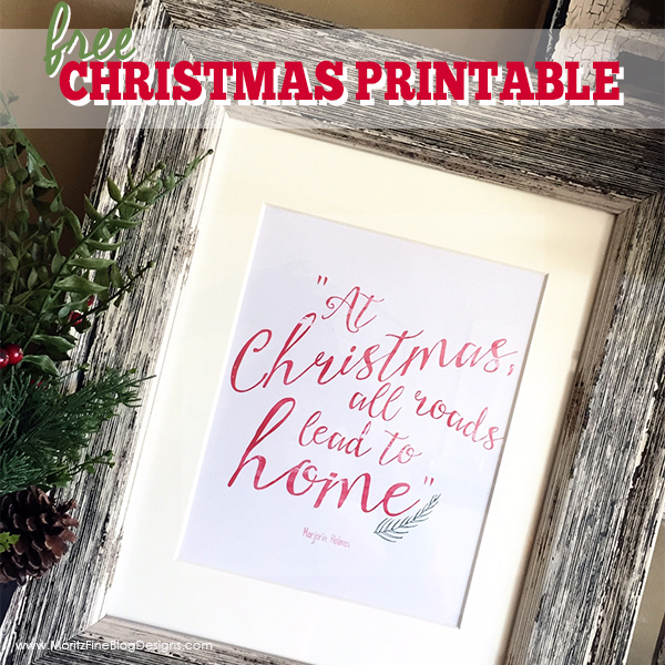Christmas Wall Decor Free Printable