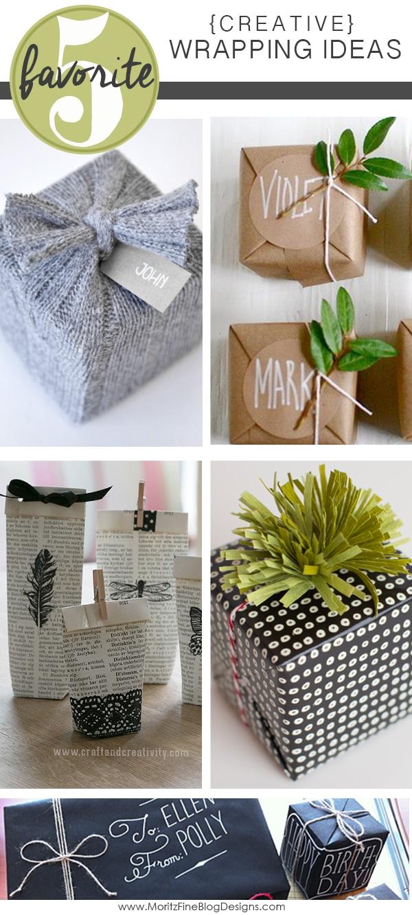 Easy Creative Gift Wrap Ideas | Friday Favorite 5 | Moritz Fine Designs