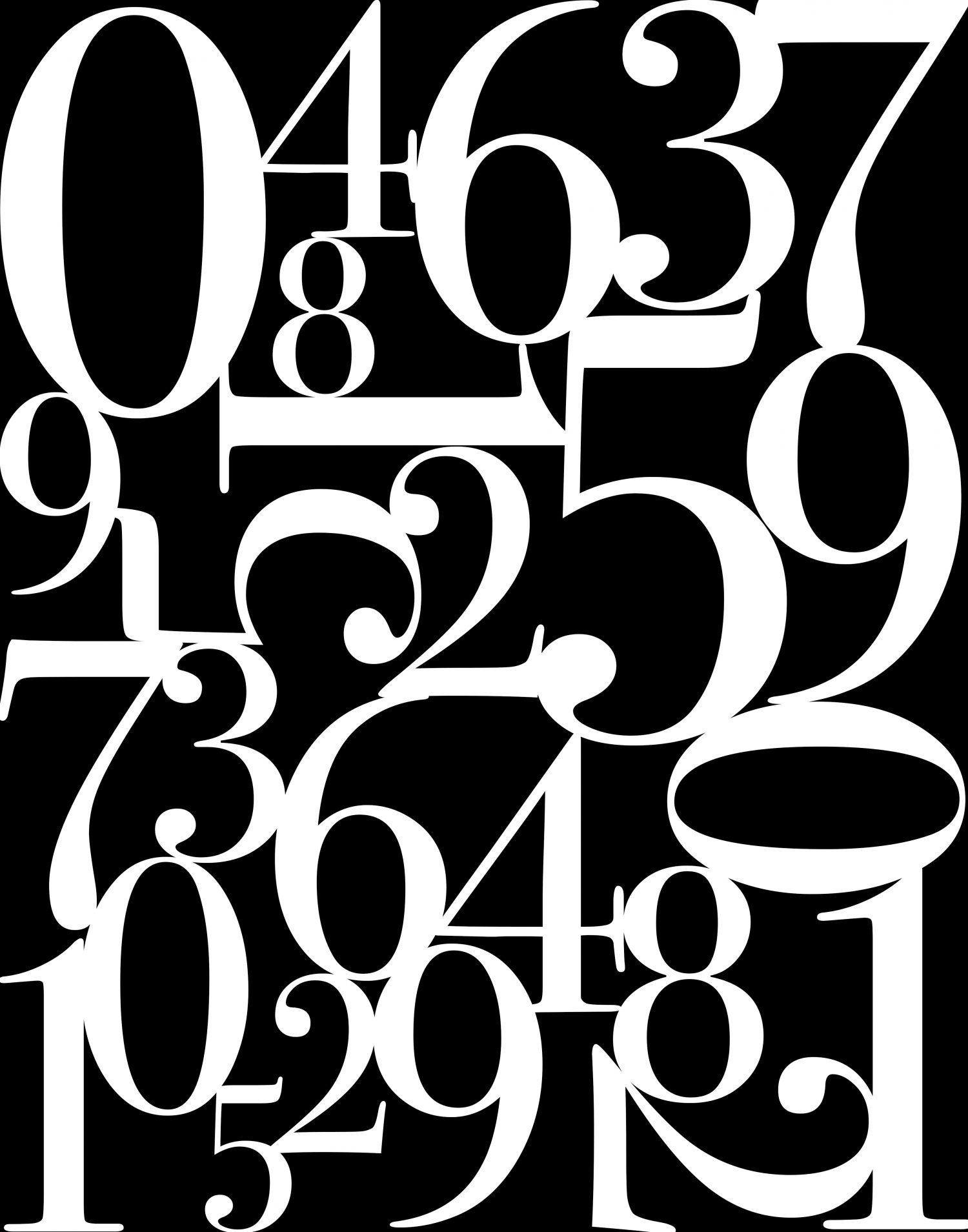 Number typography printables free printables included for Photo collage number templates
