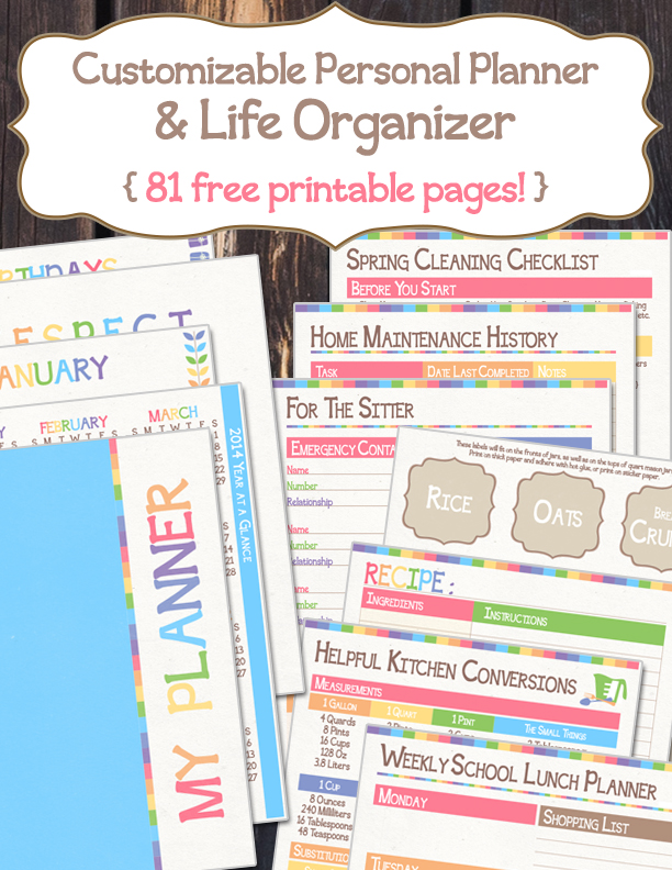 Comprehensive image intended for free printable home organizer notebook