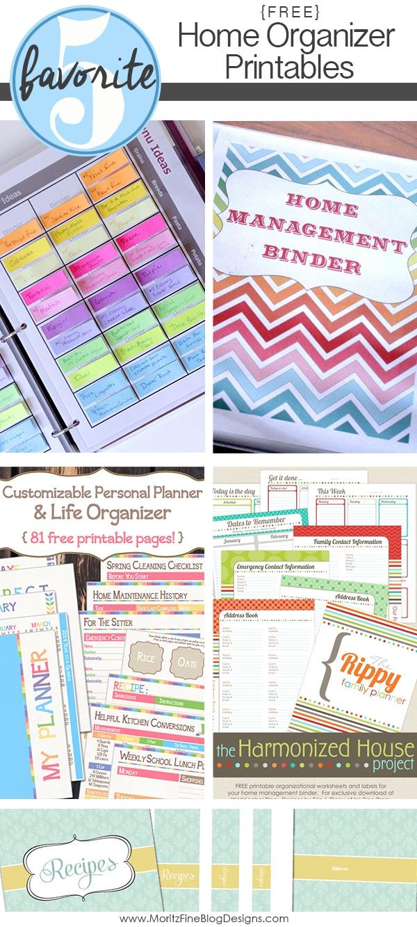 Home Organizer Printables | Friday Favorite 5