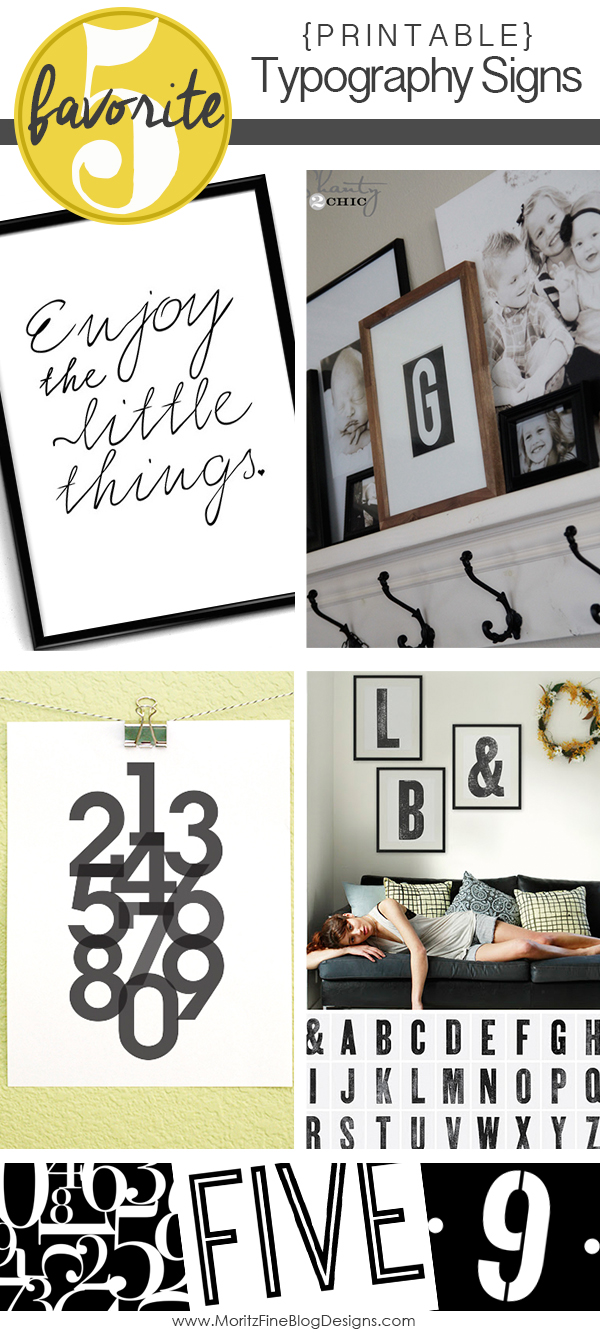Printable Typography Signs | Friday Favorite Five