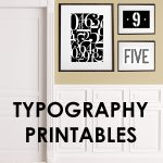 printable signs | signs for the home | typography signs | free printable