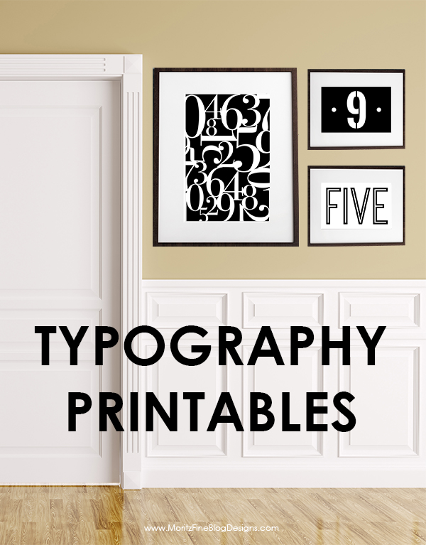 Number Typography Printables | Free Printables Included