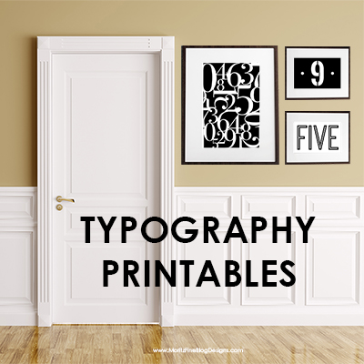 Number Typography Printables
