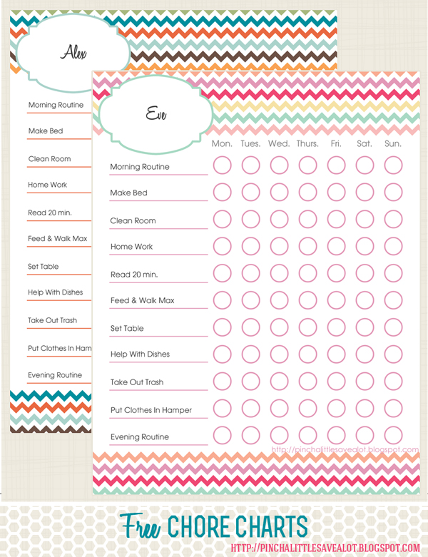 picture relating to Chore Chart Free Printable named Least difficult Chore Charts for Young children Totally free Printables Provided