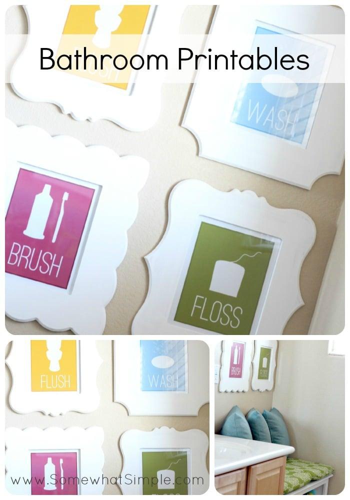 Free printable bathroom signs - Free Printable Bathroom Art Free Printable Included
