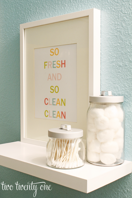 if you have some empty wall space in one of your bathrooms you can quickly