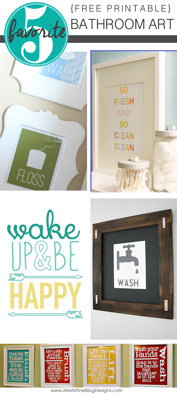 if you have some empty wall space in one of your bathrooms you can quickly - Free Printable Bathroom Art