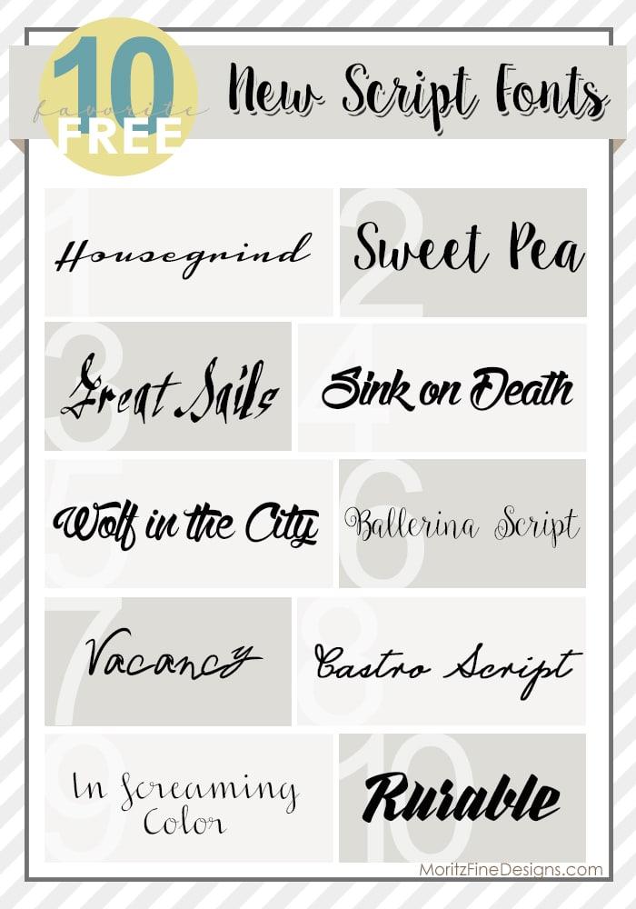 New Script Fonts | Free Font Friday