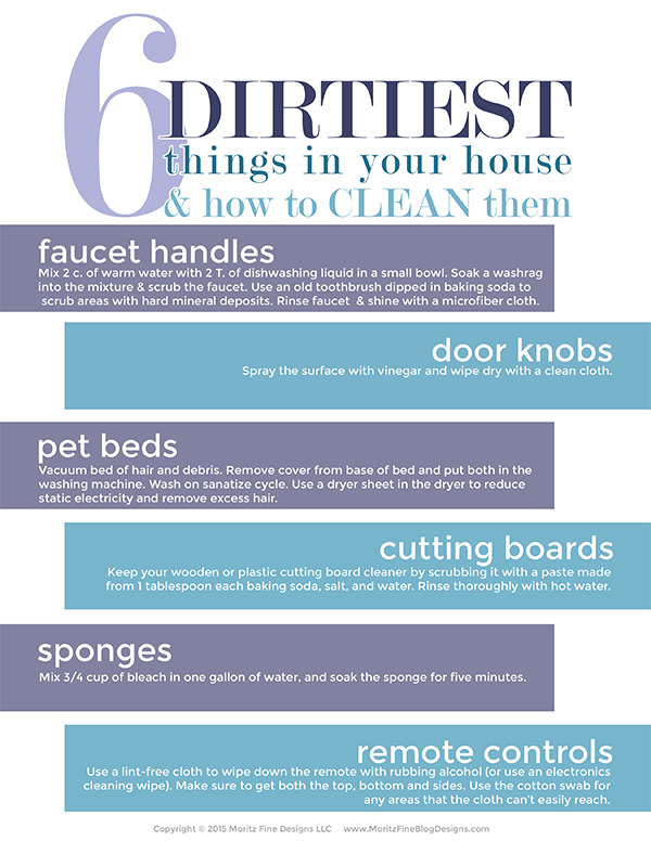 6 Dirtiest Things In Your House How To Clean Them Free