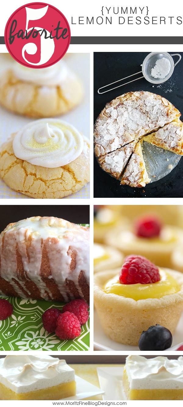Yummy Lemon Desserts | Friday Favorite 5