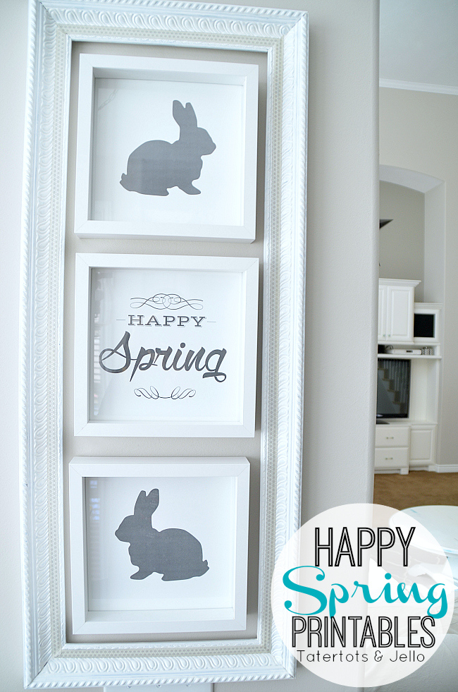Decorate your home on the cheap with these free Easter Printables. Use them in your kitchen, bathroom, guest room and more!