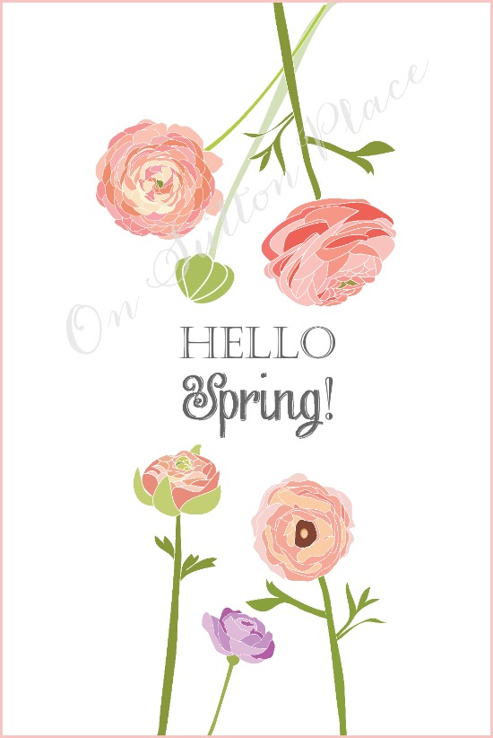 Hello Spring Printables are an easy tribute to welcome in the new Spring season! Easy to download and print out!