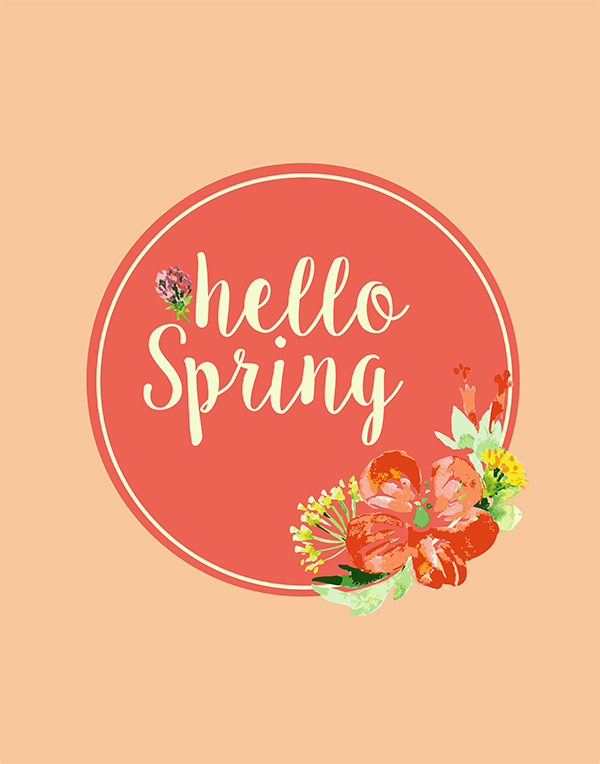 Use this beautiful hello Spring printable will be a pretty addition to decorate your mantle, buffet or sofa table.