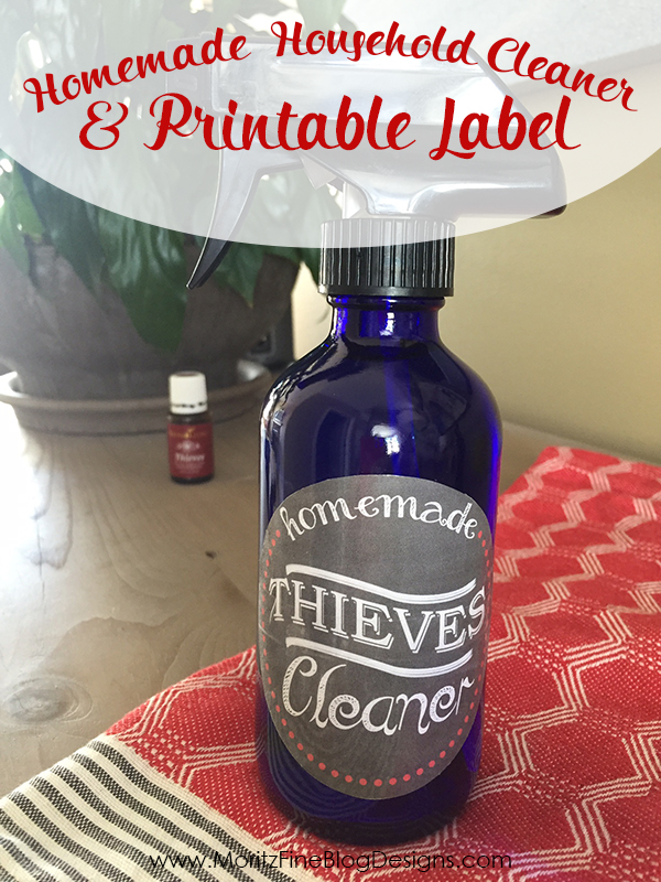 Create your own DIY Household Cleaner that is non-toxic, safe for everyone and less expensive than store-bought cleaners. Plus a free bottle label.