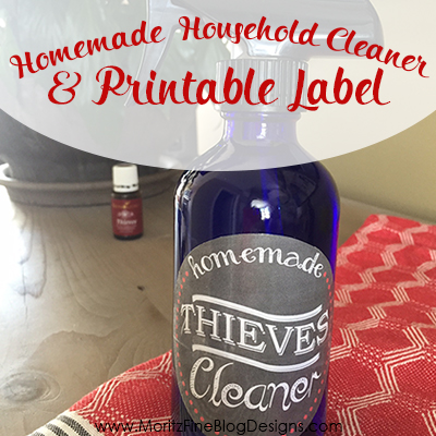 DIY Household Thieves Cleaner & Free Printable Label