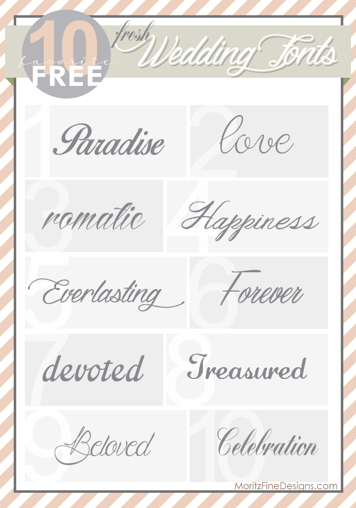 Fresh Wedding Fonts | Free Font Friday
