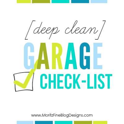 [Deep Clean] Garage Checklist