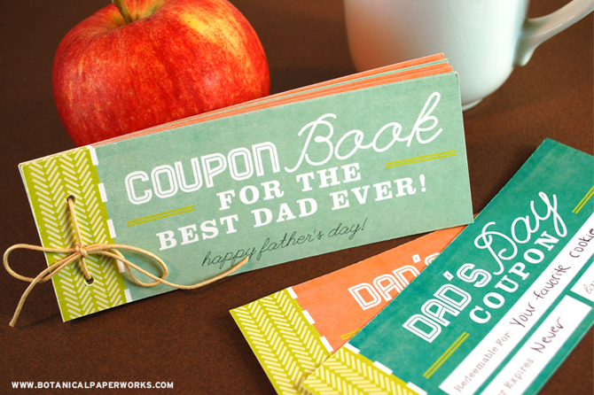 Baby Gift Ideas Coupon Code : Printable father s day ideas free included