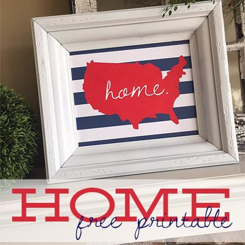 U.S. HOME Printable | 4th of July