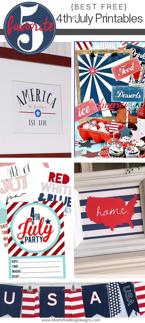 Best Free 4th of July Printables | Friday Favorite 5