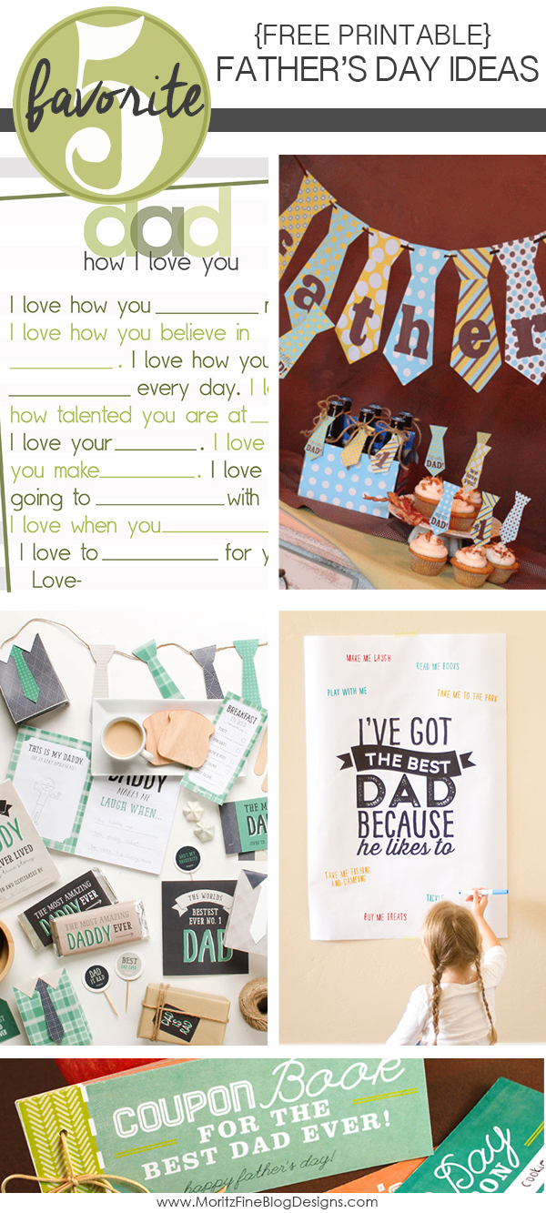 Free Printable Father's Day Ideas | Friday Favorite 5