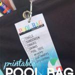 pool bag checklist | free printable | get your pool bag organized | pool trip tips