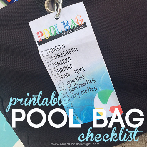 Pool Bag Printable