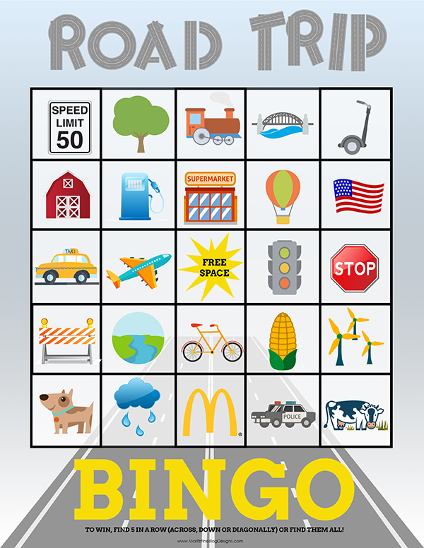 It is a picture of Tactueux Traveling Bingo Cards