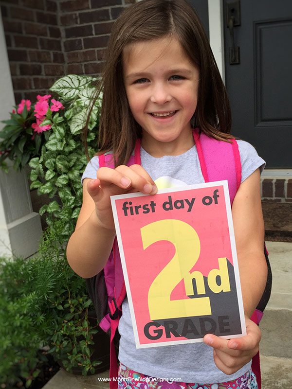 Don't forget to take a picture of your kids on their first day of school. Use these fun First Day of School Signs to mark what grade your student is in!