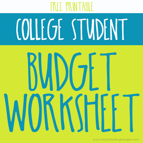 College Student Budgeting Worksheet – College Student Budget