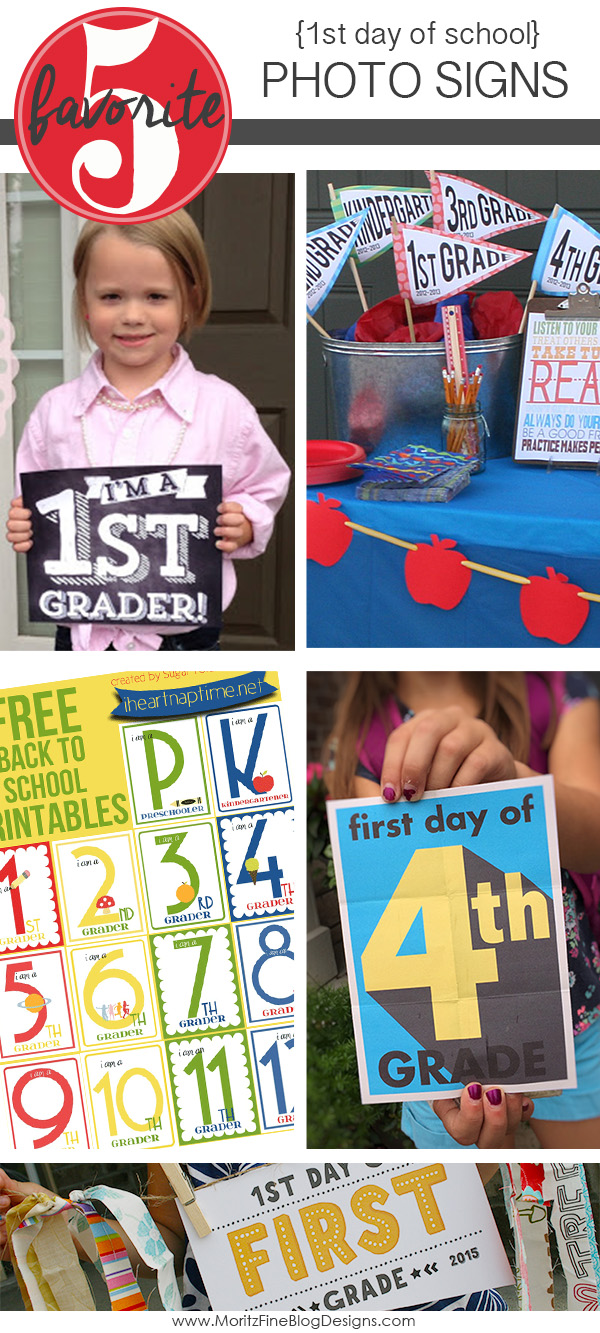 Back to School Photo Signs | Friday Favorite 5
