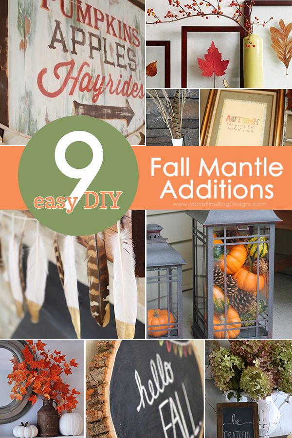DIY Fall Mantle Additions