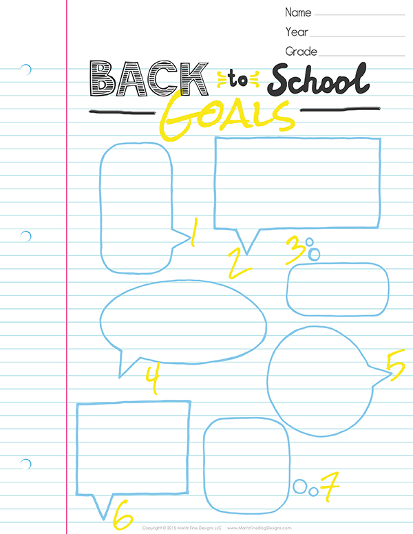 photo regarding Goals Printable referred to as Guidance Your Young children Preset Again in the direction of College Aims Absolutely free Printable