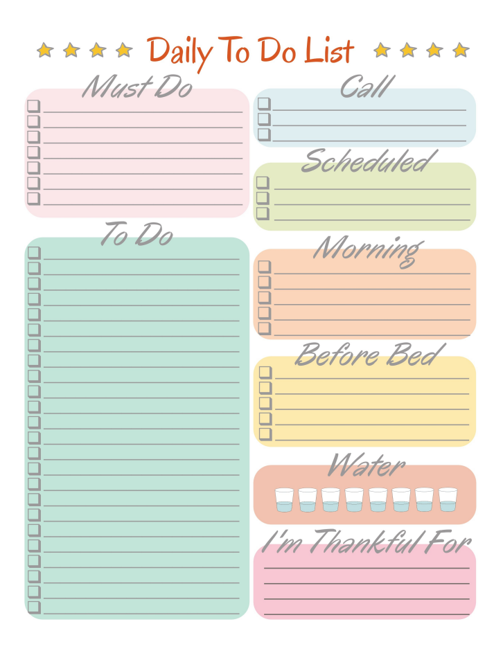 graphic regarding Printable Daily to Do List identified as Every day In direction of Do Checklist Absolutely free Printables
