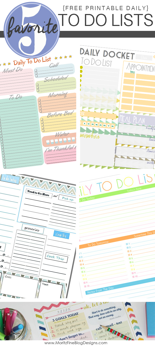 daily to do list free printables