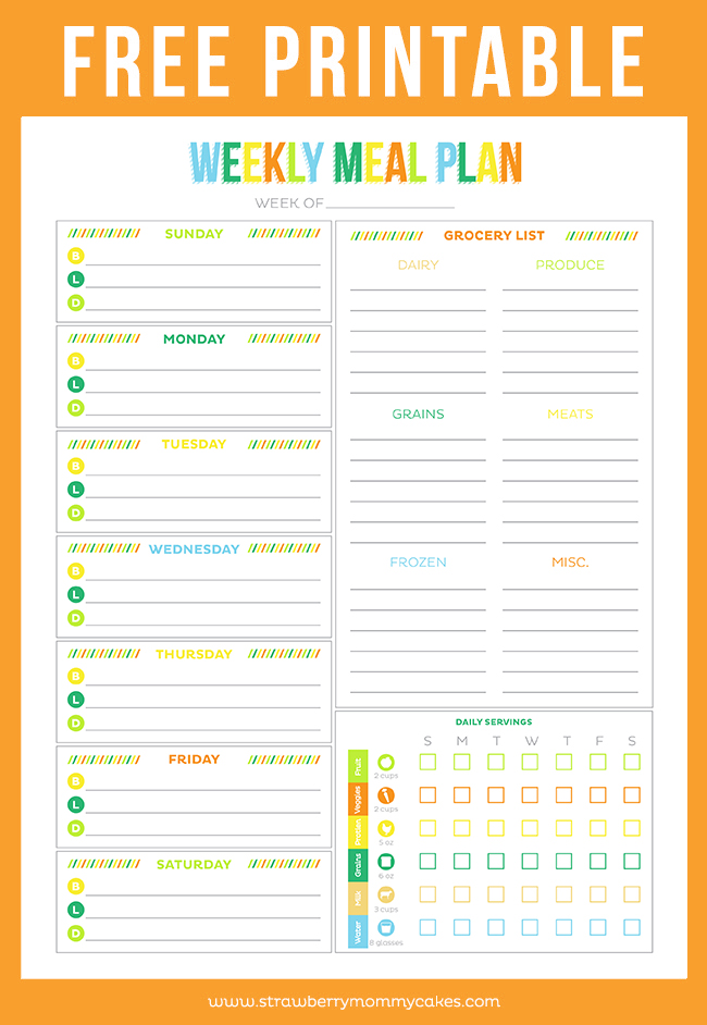 Free Printable Menu Planners Friday Favorite 5 Moritz Fine Designs
