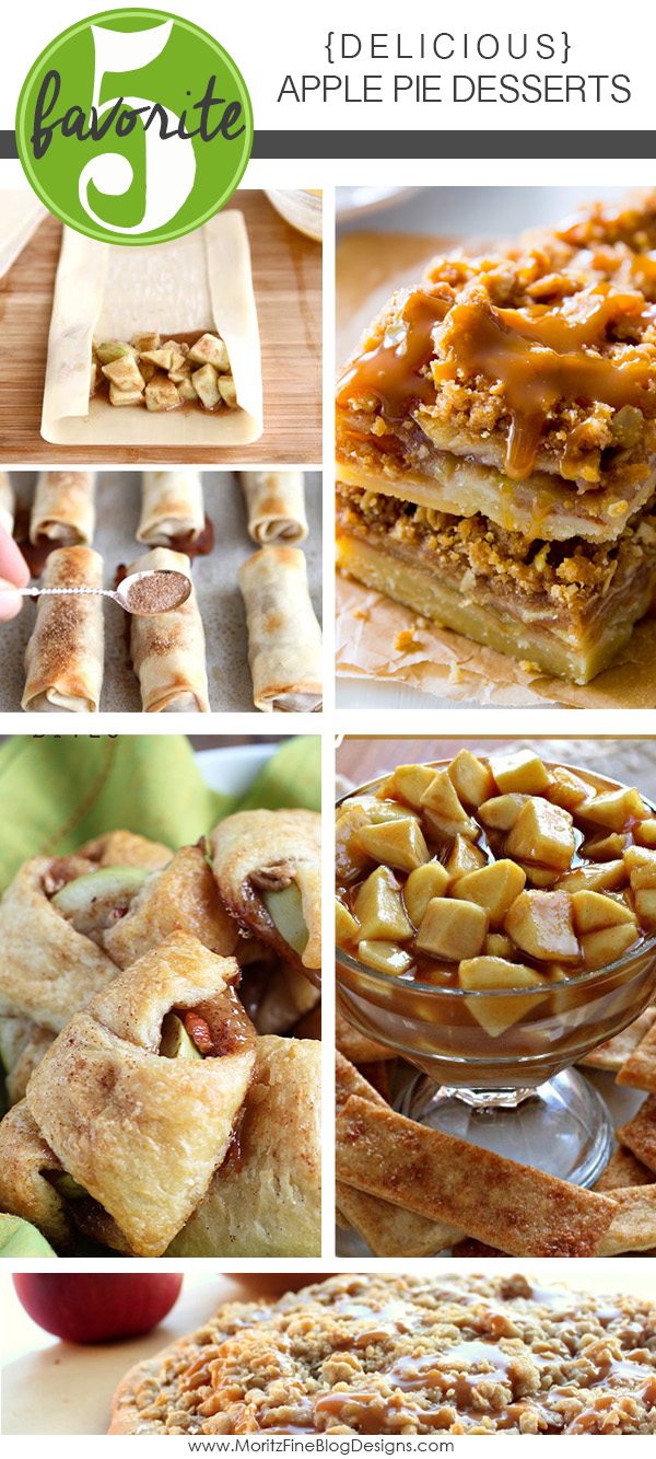 If you love apple pie, you will love these Apple Pie Desserts...fabulous variations of a classic original dessert. Guaranteed you will be addicted to one of these recipes!