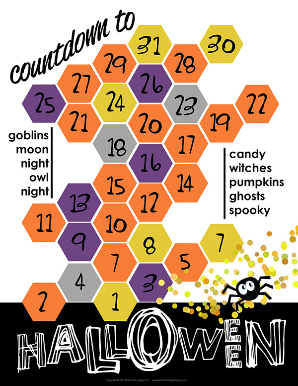 Your kids can keep track of how many days until Halloween with this Halloween Countdown free printable. A fun family activity for the month of October!