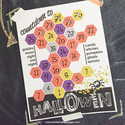 The kids will have a blast counting down the days until Halloween--a cute and simple Halloween print.