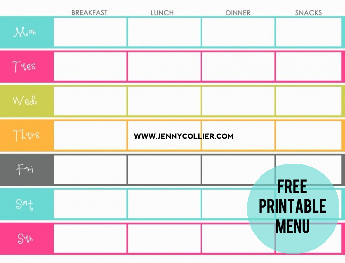 Stop panicking at 3pm everyday when you don't know what to make for dinner! Grab one of these Free Printable Menu Planners, spend 10 min. and plan dinner for the week! Your entire week will run more smoothly...and you can avoid the drive-thru.