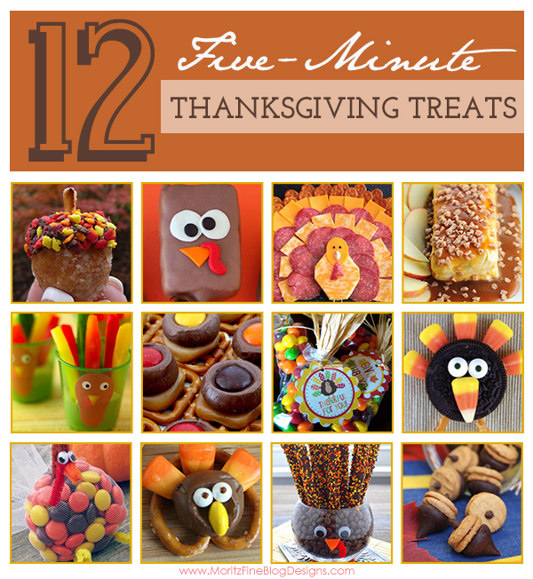 Whether you are hosting or bringing some treats with you to the dinner you are attending, these 5-Minute Thanksgiving Treats are great ideas for you!